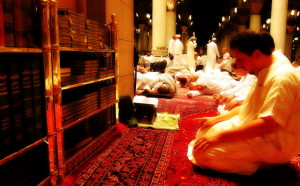 Praying in Prophet's mosque