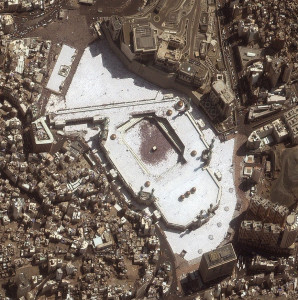Satellite view of Kaaba