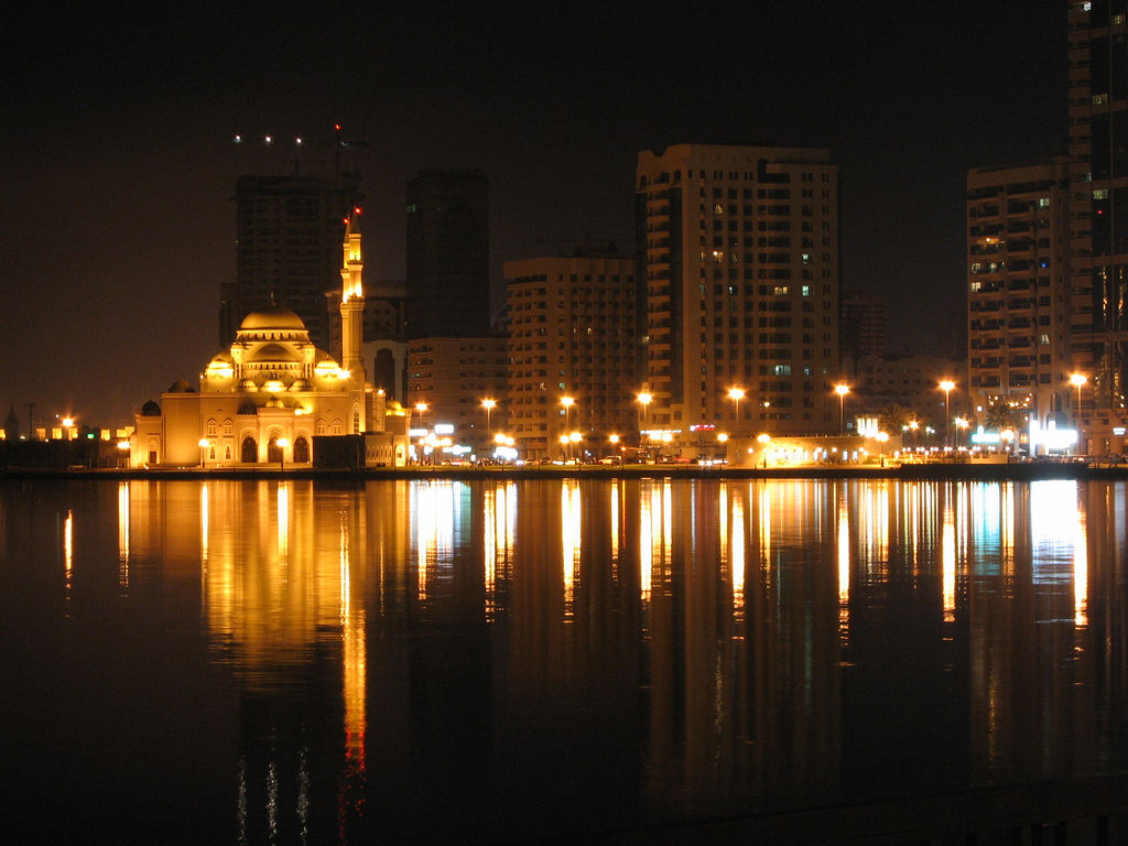 086 A Mosque in Sharjah - UAE