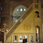 101 Pulpit at the Blue Mosque in Istanbul, Turkey