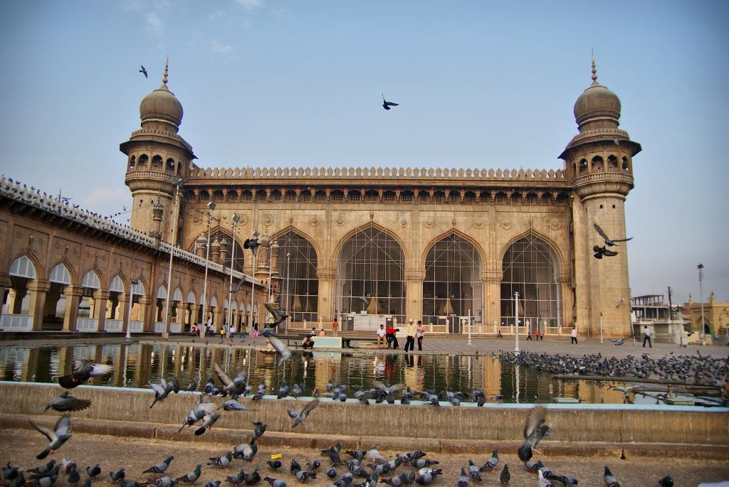 Inside Of Makkah Masjid Hyderabad