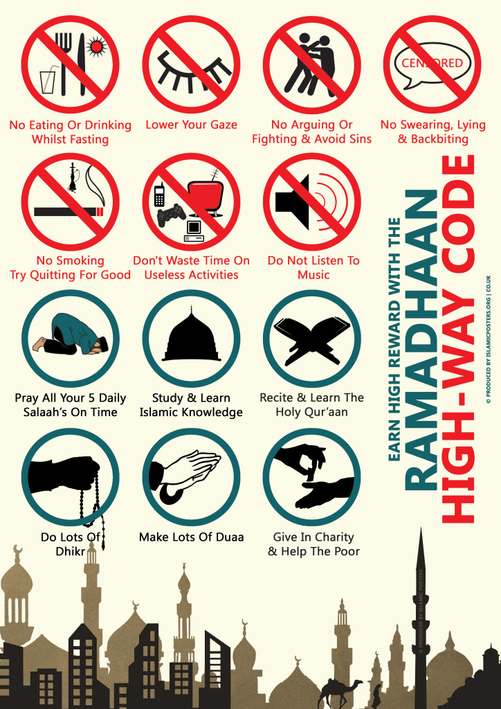 Ramadhaan highway Code  - Dos And Donts