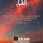 Picture Perfect : Deeds not Appearance