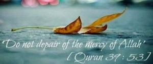 Do not despair Mercy of Allah