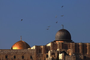 Al-Aqsa Mosque and the Dome of Rock.