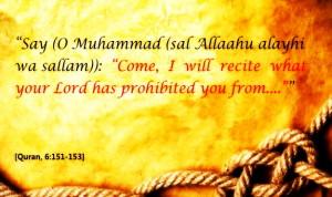 Allah ten commandments